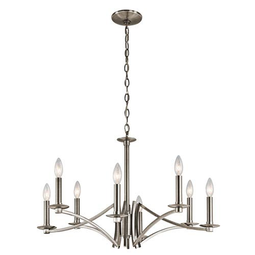 Grayson Classic Pewter Eight-Light Chandelier