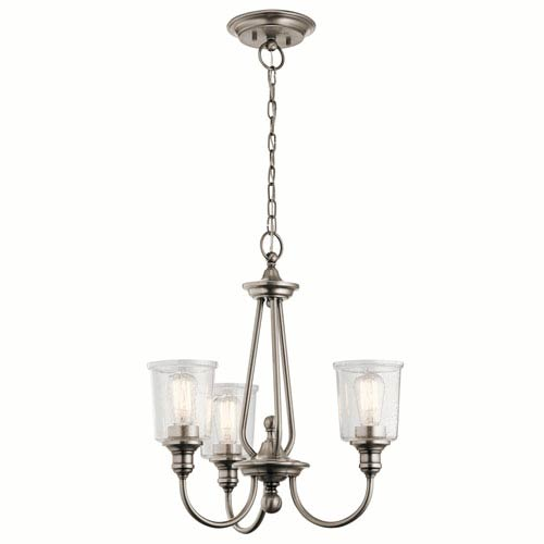 Waverly Classic Pewter 22-Inch Three-Light Chandelier