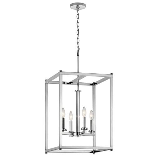 Kichler Crosby Chrome 16 Inch Four Light Foyer Pendant