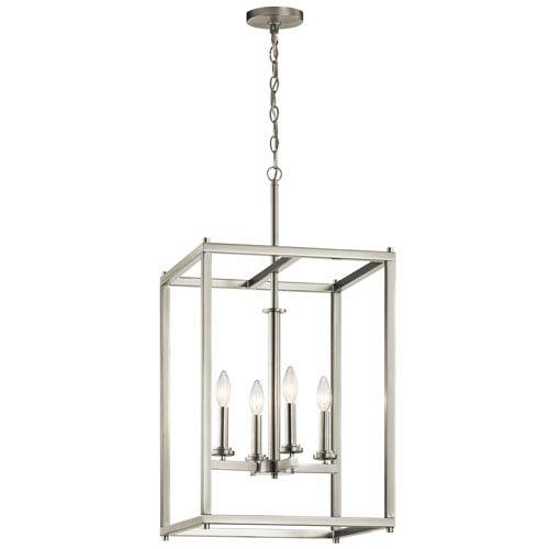 Kichler Crosby Brushed Nickel 16-Inch Four-Light Foyer Pendant