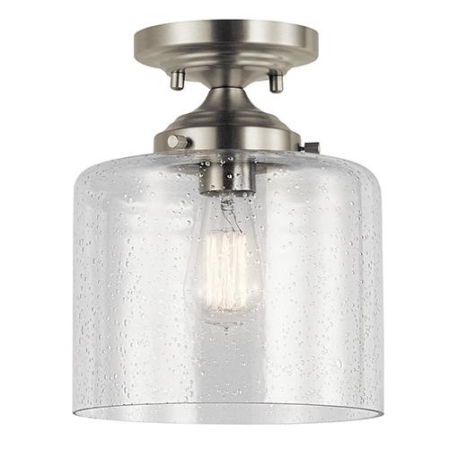 Winslow Brushed Nickel 9-Inch One-Light Semi-Flush Mount