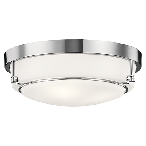 Belmont Chrome 16-Inch Three-Light Flush Mount