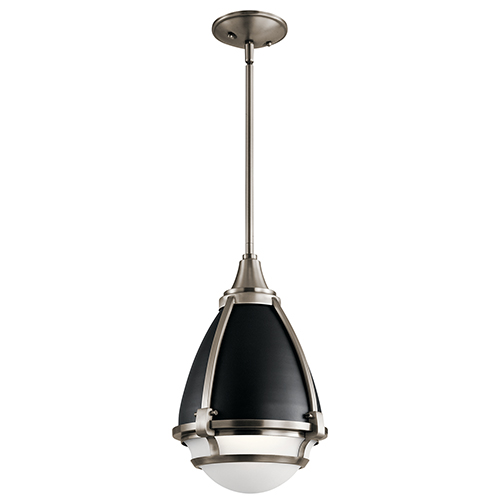 Ayra Classic Pewter 10-Inch One-Light Mini Pendant