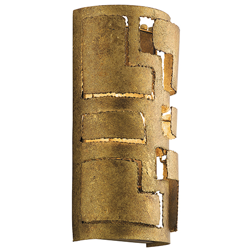 Kichler Shefali Pharaoh Gold 7-Inch Two-Light Wall Sconce