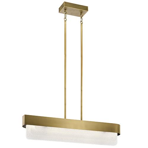 Serene Natural Brass 6-Inch LED Linear Pendant