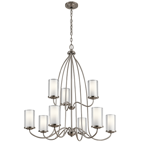 Kichler Lorin Classic Pewter 32-Inch Nine-Light Two-Tier Chandelier