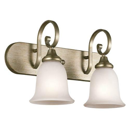Kichler Monroe Sterling Gold Two-Light Bath Vanity