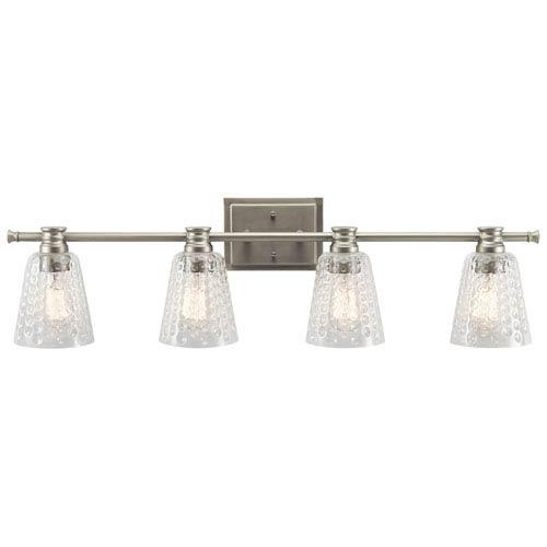 Kichler Nadine Brushed Nickel 35-Inch Four-Arm Bath Light