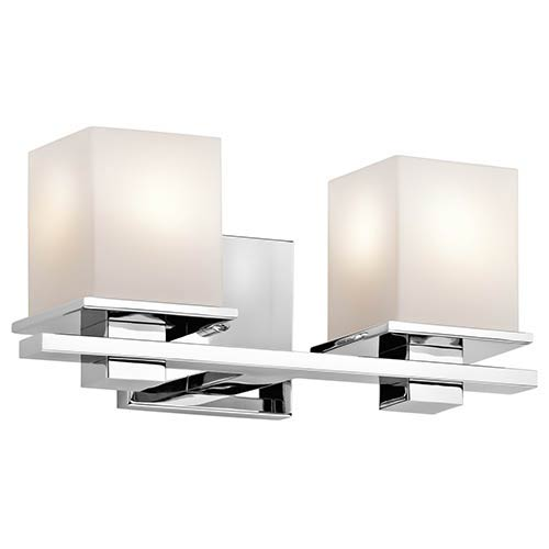 Kichler Tully Chrome Two-Light Bath Vanity Fixture