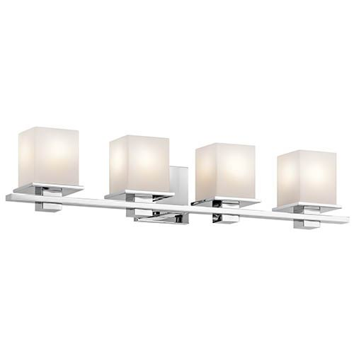 Tully Chrome Four-Light Bath Vanity Fixture