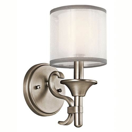 Lacey Antique Pewter One-Light Wall Sconce
