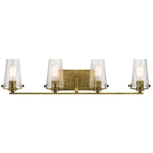 Alton Natural Brass 34-Inch Four-Arm Bath Light