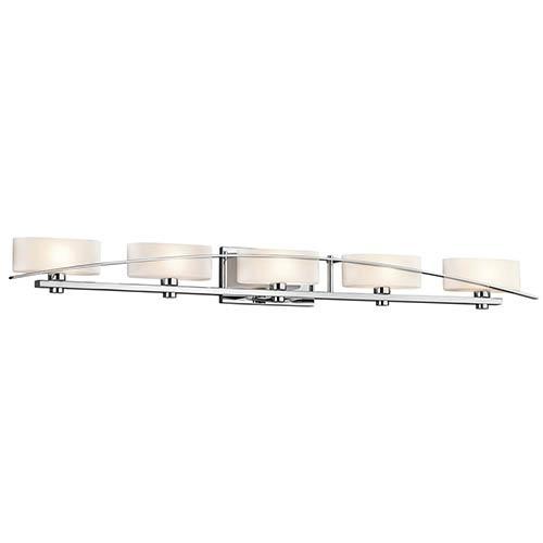 Kichler Suspension Chrome Five-Light Bath Vanity Fixture