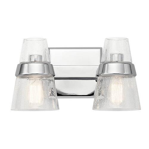 Kichler Reese Chrome 15-Inch Two-Arm Bath Light