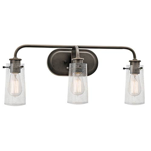 Braelyn Olde Bronze Three-Light Bath Vanity Fixture
