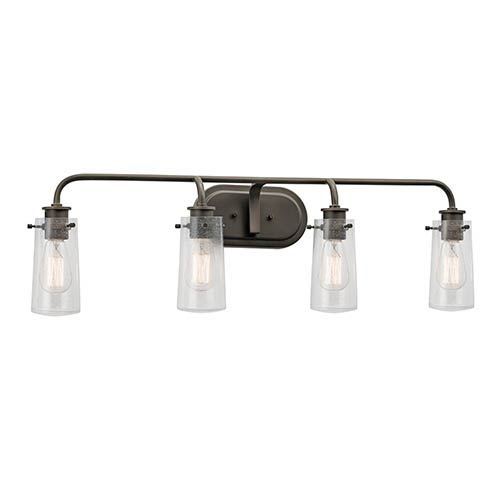Kichler Braelyn Olde Bronze Four-Light Bath Vanity Fixture