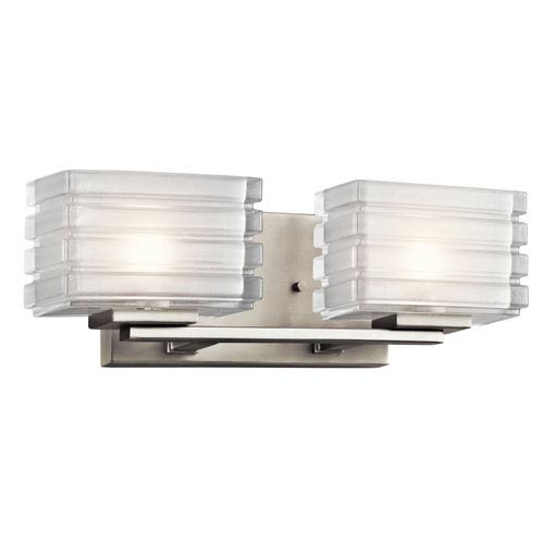 Kichler Bazely Brushed Nickel Two Light Wall Bath Bar