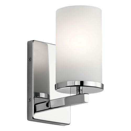 Crosby Chrome 5-Inch One-Light Wall Sconce