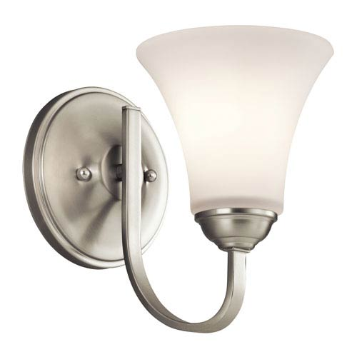 Kichler Keiran Brushed Nickel 6-Inch One-Light Energy Star Wall Sconce