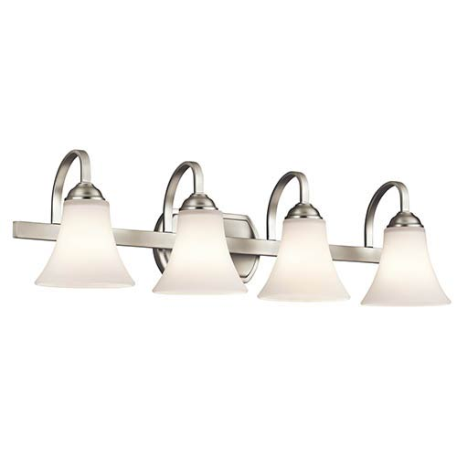 Kichler Keiran Brushed Nickel Four-Light Bath Vanity Fixture