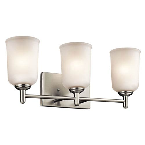 Kichler Shailene Brushed Nickel Three-Light Bath Bracket