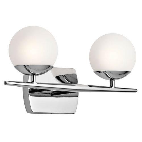 Jasper Chrome Two-Light Bath Sconce
