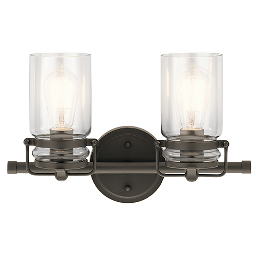 Brinley Olde Bronze 16-Inch Two-Light Bath Light
