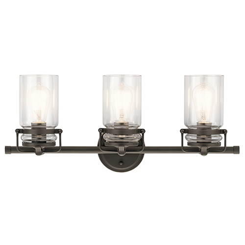 Kichler Brinley Olde Bronze 24-Inch Three-Light Bath Light