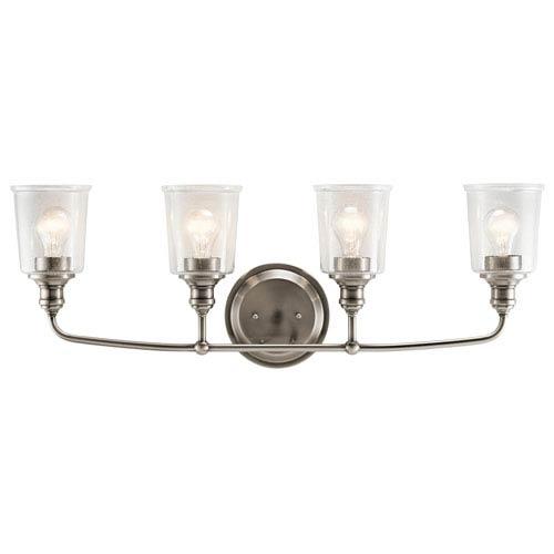 Waverly Classic Pewter 33-Inch Four-Arm Bath Light