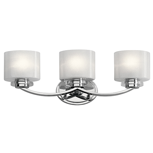 Kichler Archer Chrome 24-Inch Three-Light Bath Light