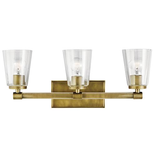 Audrea Natural Brass 24-Inch Three-Light Bath Light