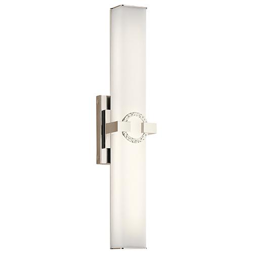 Bordeaux Polished Nickel 22-Inch LED Medium Linear Bath Light