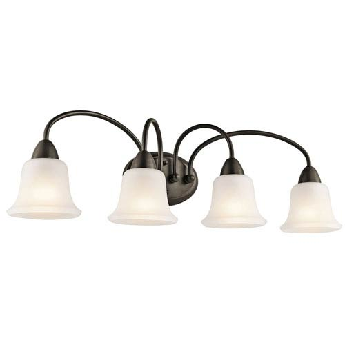 Nicholson Olde Bronze Four-Light Bath Fixture