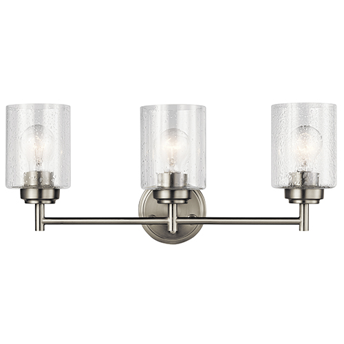 Winslow Brushed Nickel 22-Inch Three-Light Bath Light