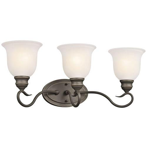 Kichler Tanglewood Olde Bronze 23-Inch Energy Star Three-Arm Bath Light