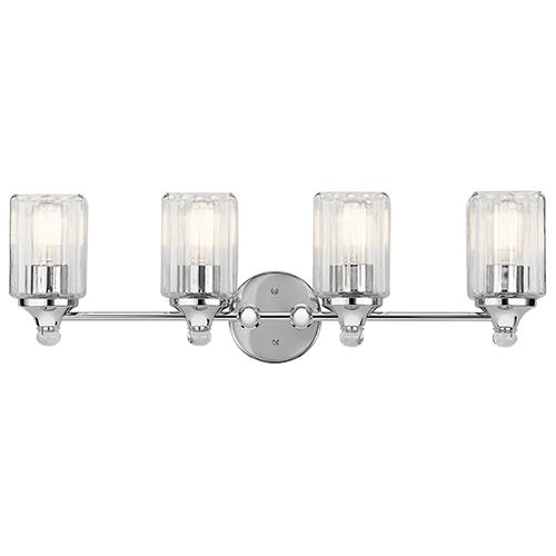 Kichler Riviera Chrome 28-Inch Four-Light Bath Light