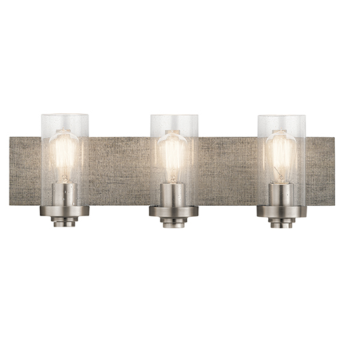 Dalwood Classic Pewter 24-Inch Three-Light Bath Light