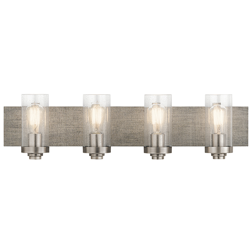 Dalwood Classic Pewter 32-Inch Four-Light Bath Light