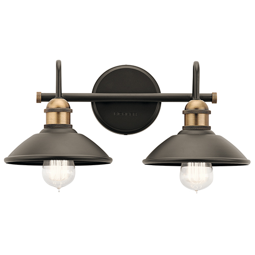 Clyde Olde Bronze 17-Inch Two-Light Bath Light