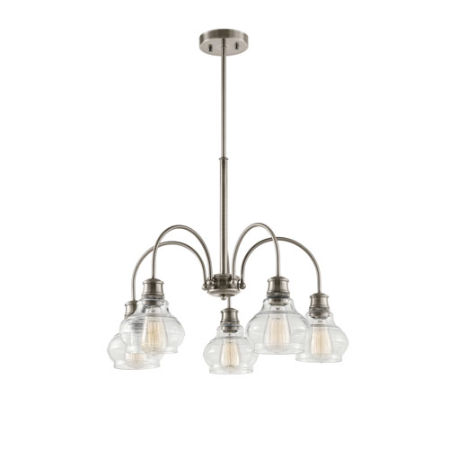 Kichler Schoolhouse Classic Pewter Five-Light Chandelier