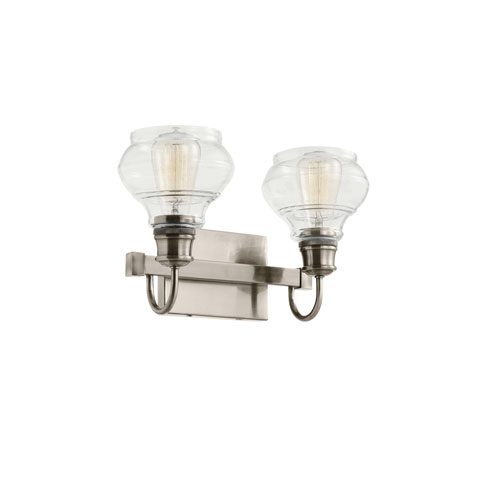 Schoolhouse Classic Pewter Two-Light Bath Light