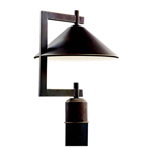 Ripley Olde Bronze One-Light Outdoor Post Light