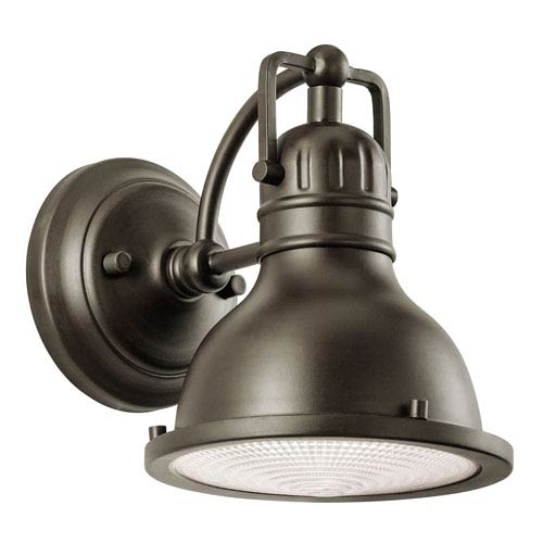 Hatteras Bay Olde Bronze One Light Small Outdoor Wall Lantern with Fresnel Glass