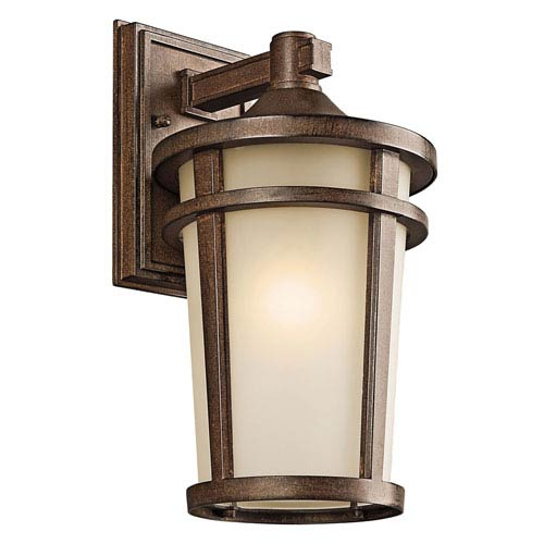 Atwood Brown Stone One-Light 8-Inch Outdoor Wall Mount