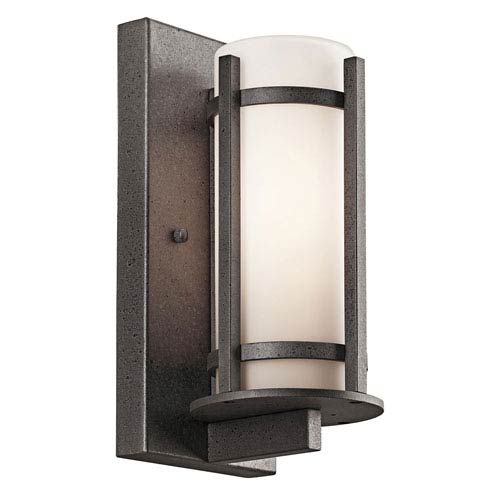 b3bb442c4a0 Kichler Atwood Brown Stone One Light 8 Inch Outdoor Wall Mount ...