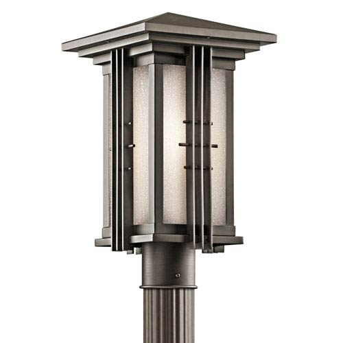 Portman Square Olde Bronze One-Light 16-Inch Outdoor Post Mount