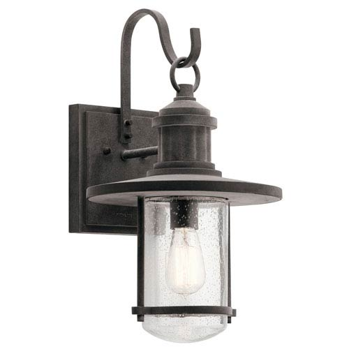 Riverwood Weathered Zinc 11-Inch One-Light Outdoor Wall Light
