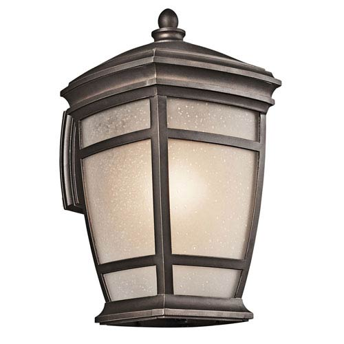 Kichler McAdams Rubbed Bronze One-Light 17.5-Inch Outdoor Wall Mount