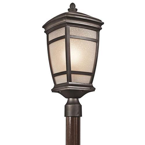 McAdams Rubbed Bronze One-Light Outdoor Post Lantern
