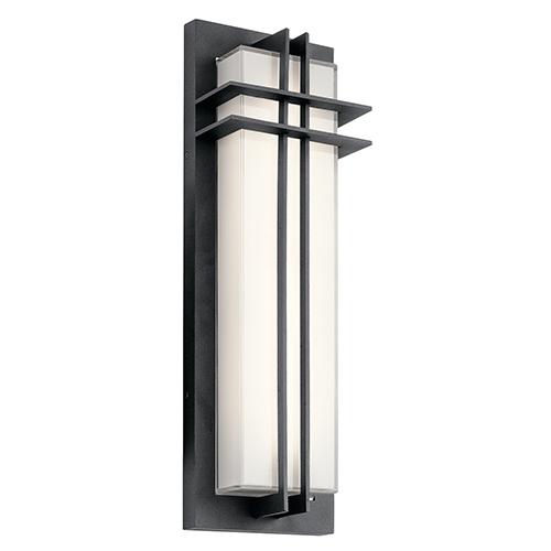Kichler Manhattan Textured Black 7-Inch LED Medium Outdoor Wall Light